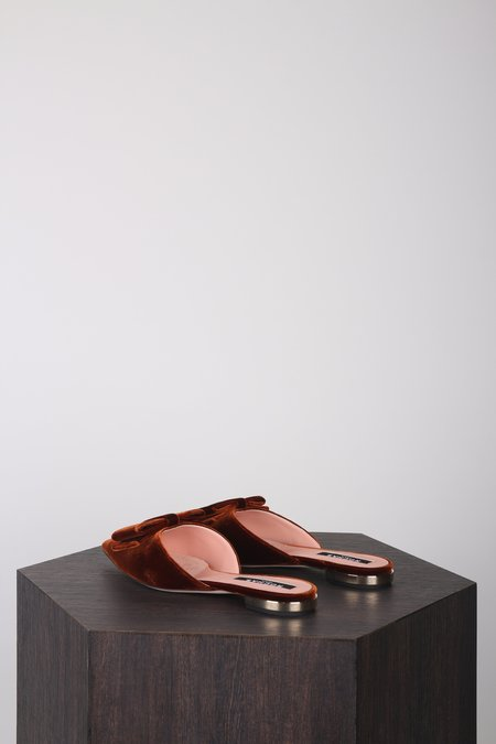 Rochas Velvet Slipper Shoes - Cuoio