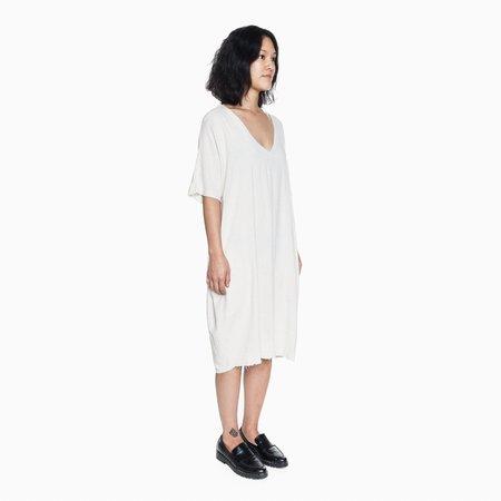 Orimono Raw Edge V-Neck Dress