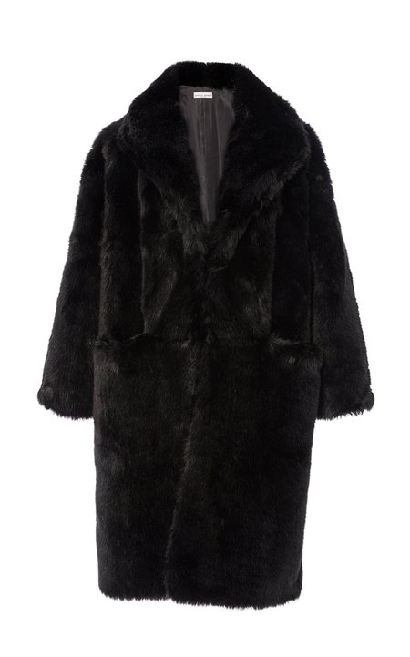 Apiece Apart Cove Faux Fur Parka - BLACK