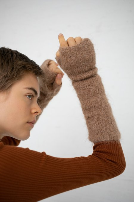 A Détacher Fingerless Gloves - Honey