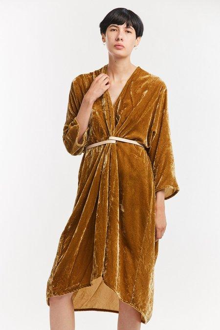 Miranda Bennett Velvet O'Keeffe Dress - Tangier