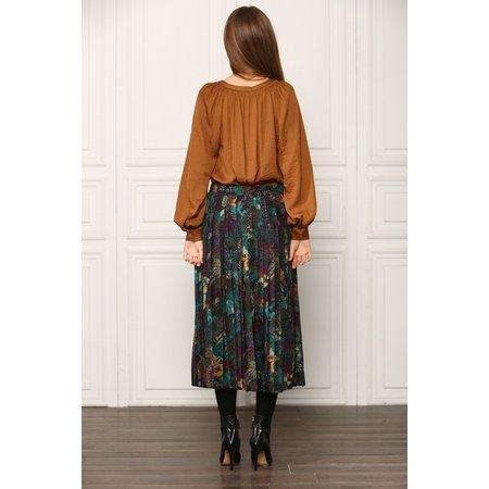 See U Soon Secret Garden Pleated Midi Skirt - Enchanted Green