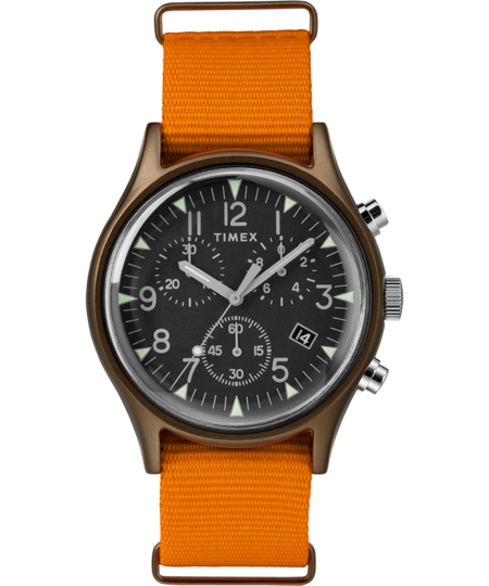 Timex Archive MK1 Aluminum Chronograph 40mm Watch - Orange