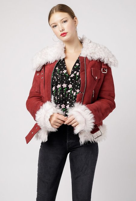 Sandy Liang Skyla Jacket - Wine