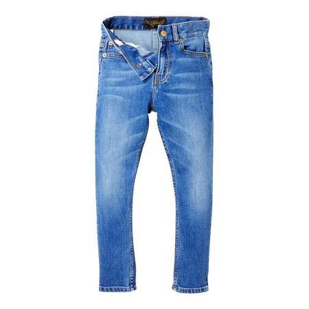 KIDS Finger In The Nose Child Ewan Pants Woven 5 Pocket Comfort Fit Jeans - Authentic Blue
