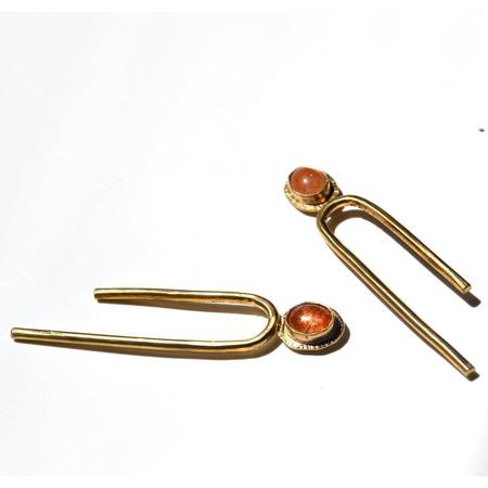 Fade into the Abstract Tilt Earrings - Sunstone