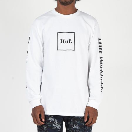 HUF Domestic Box Long Sleeve T-Shirt - White