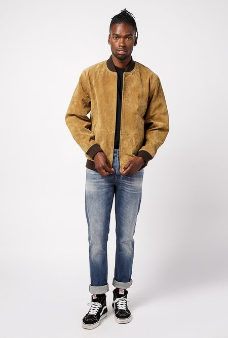 Obey Clifton Leopard Suede Jacket - Tapenade