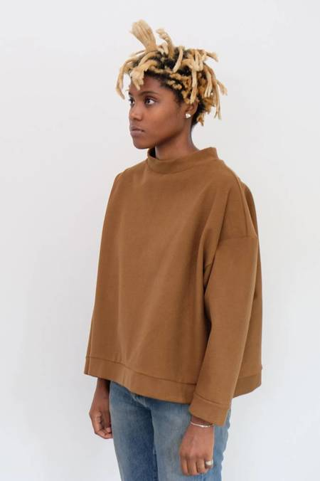 Priory Kade Crew Sweatshirt - Chocolate