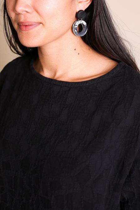 Peppertrain Jolie Earrings - Black/White