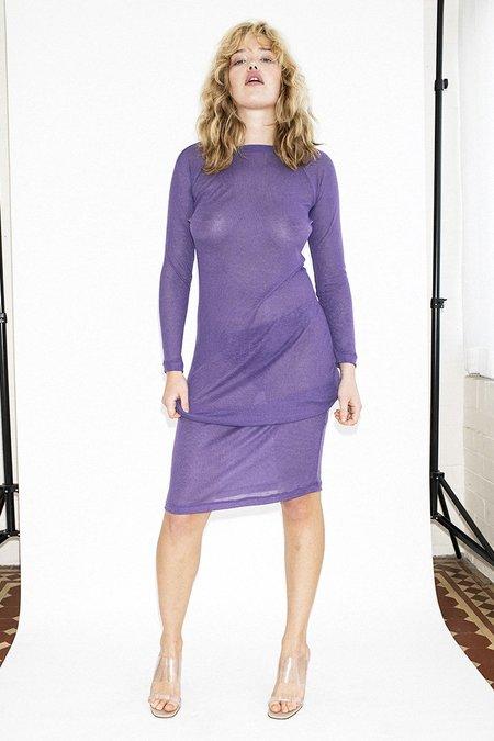 Permanent Vacation Sheer Knit Dress - Ultra Violet