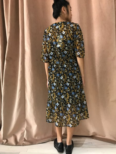 JUST FEMALE ANTONINE DRESS - YELLOW FLOWER