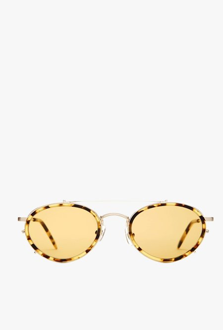 UNISEX Crap Eyewear The Riddim Safari Sunglasses - Brushed Gold & Tokyo Tortoise/Mustard