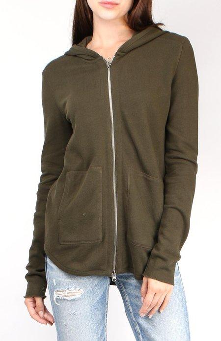 ATM Zip up Hoodie sweatshirt - Pine