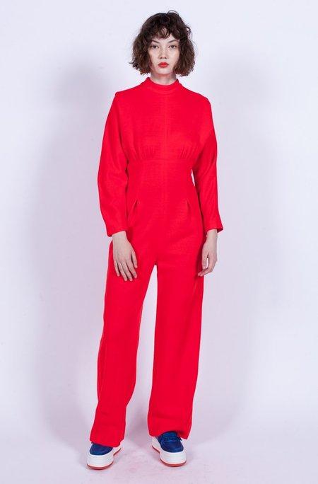 Yo Vintage! Wool Jumpsuit - Red