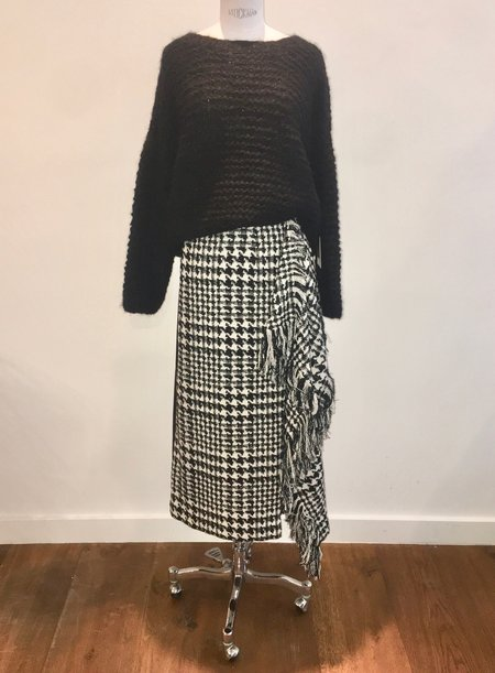 Connesse Scarf Skirt - Herringbone