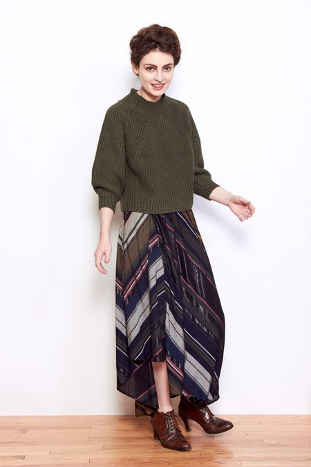 Apiece Apart Turkanna Skirt - Multi Stripe
