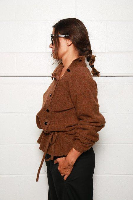 Lemaire Asymmetrical Cardigan - Rust