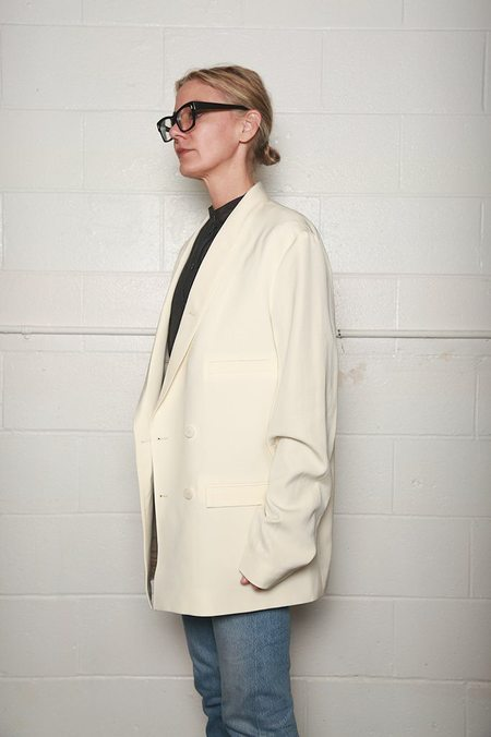 Lemaire Double Breasted Jacket - Cream