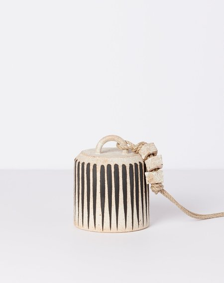 MQuan Studio MQuan Small Wide Thrown Bell - Black Stripe