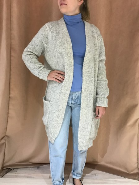 ASSEMBLY LABEL SLOUCHY CARDIGAN - GRAY MARLE