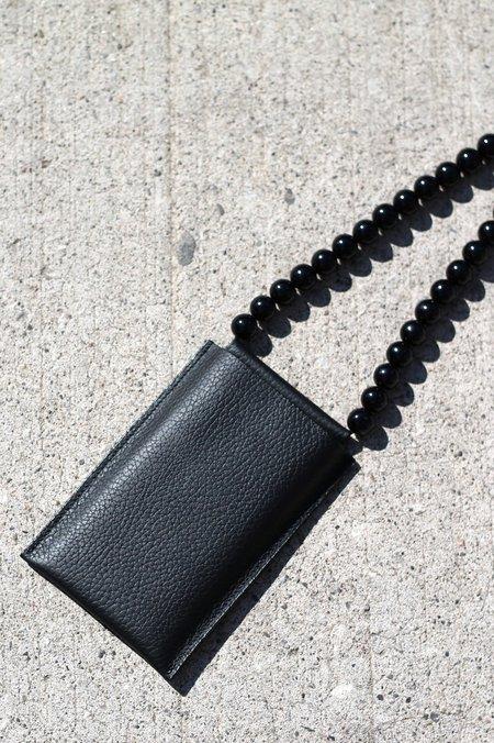 Building Block iPhone Sling - Black Beads