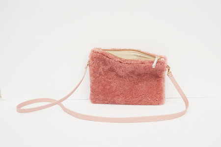 Primecut  Shearling Pouch Purse - Pink