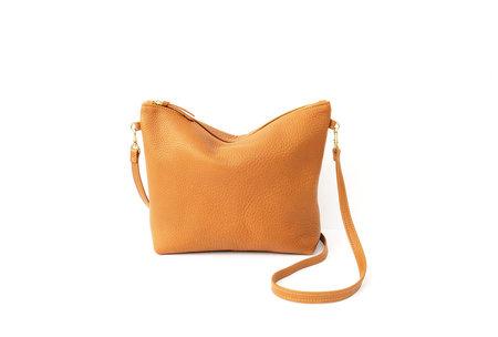 Primecut Leather Mini Hobo - Camel