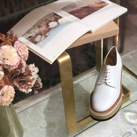 Clergerie Barbara Derby Leather shoe - White