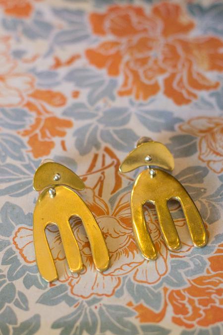 Seaworthy Ruby Earrings - BRASS