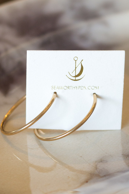 Seaworthy Angela Hoops - 14k Gold Fill