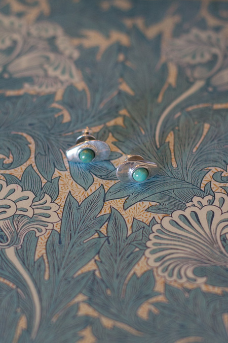 Seaworthy Cate Earrings - Silver/Turquoise