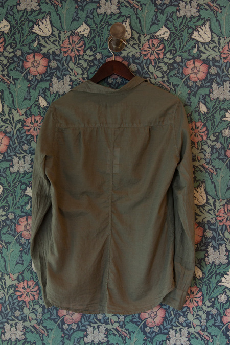 Frank & Eileen Barry Top - Army Green Voile