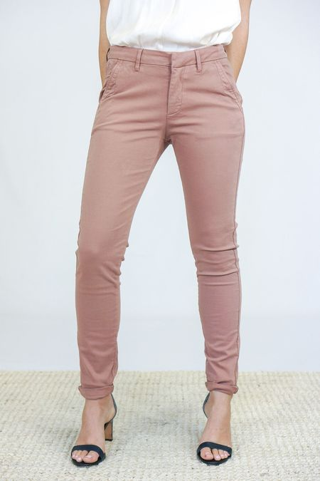 Reiko Chino Trousers - Dusty Pink