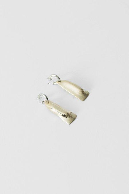 Quarry Veronica Hoop Earrings in White Bronze