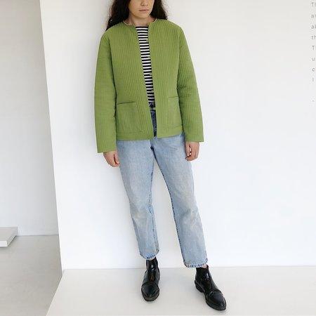 Johan Vintage Reversible Quilted Jacket - Green/Pink