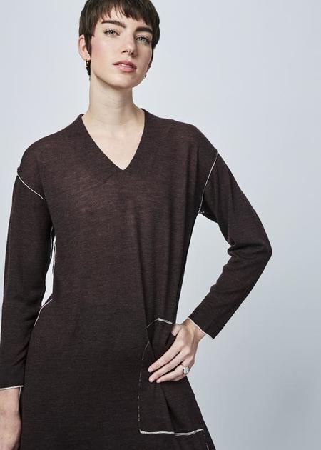 Yoshi Kondo Olive Knit Dress - brown