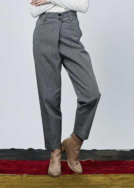 NICO Pima Crossover Pant - navy stripe