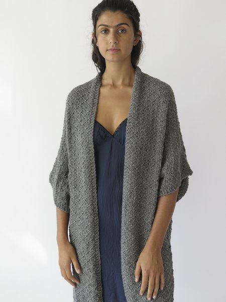Erica Tanov Alpaca Kimono Cardigan - Grey