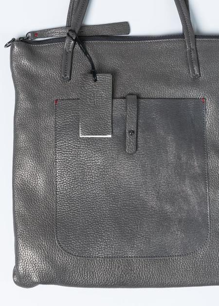 Massimo Palomba Marlena Tote Bag - Pebbled Steel
