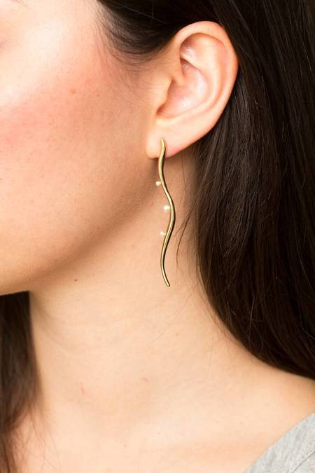 Ileana Makri Sea Flow Earring - Gold Plated