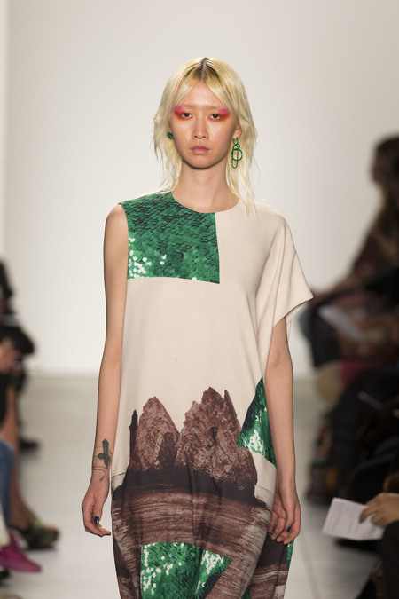 A Détacher Danuta Dress in Rocks Print