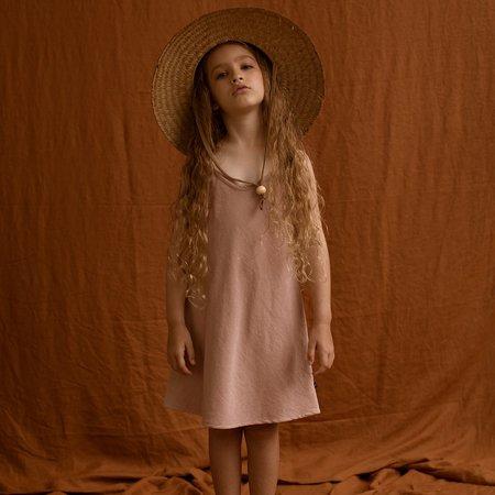 Kids Feather Drum Mia Velvet Slip Dress - Dusk