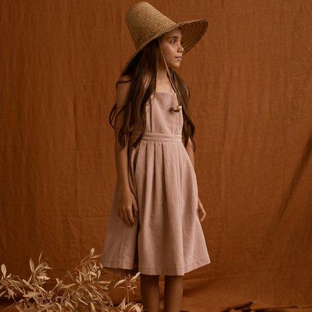 Kids Feather Drum Penelope Velvet Dress - Dusk