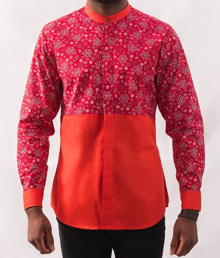 Omenka Patterned Shirt - Orange Paisley