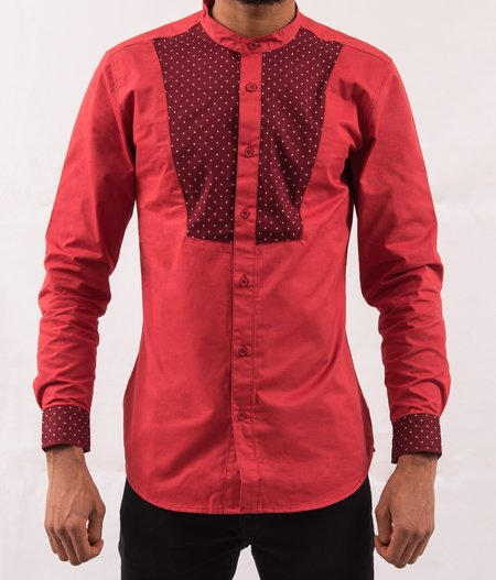 Omenka Shirt - Red Pattern