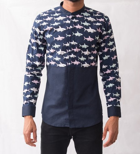 Omenka Patterned Shirt - Shark