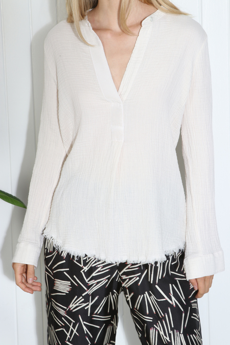 Raquel Allegra Henley Top - Bone