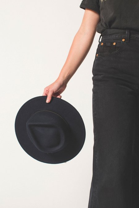 Yellow 108 Eastwood Fedora - Navy
