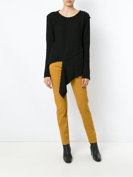 Uma Raquel Davidowicz Creme Wool Sweater - Black
